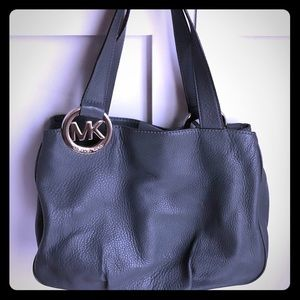 Gray Michael Kors shoulder bag